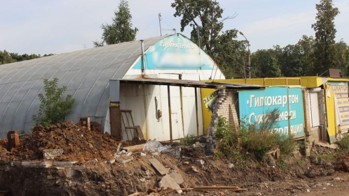В Самаре строительству трамвайной линии до «Самара-Арены» мешает магазин стройматериалов