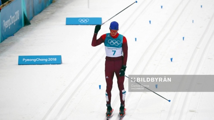 Тюменский лыжник Александр Большунов завоевал серебро на марафонской гонке Олимпиады