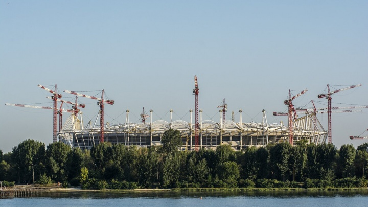 На футбольном поле «Ростов-Арены» высадят настоящую траву