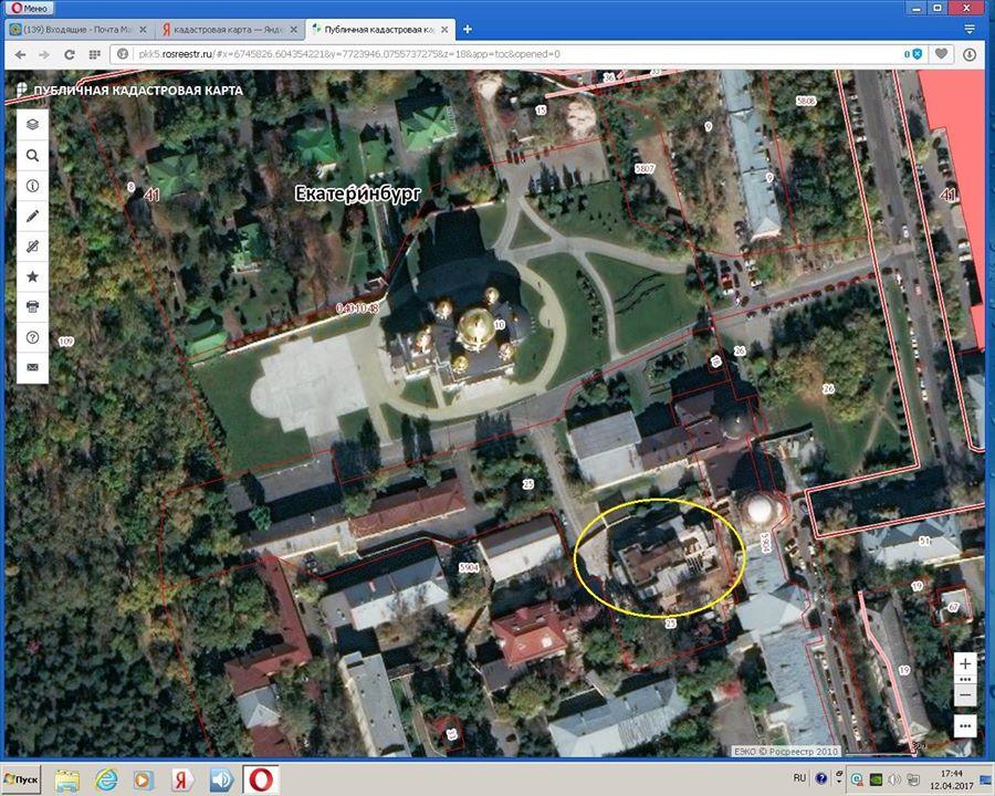 Расположение Успенской церкви на карте.