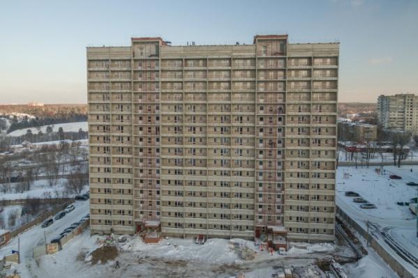 Строительство дома на улице Барачинской, 12
