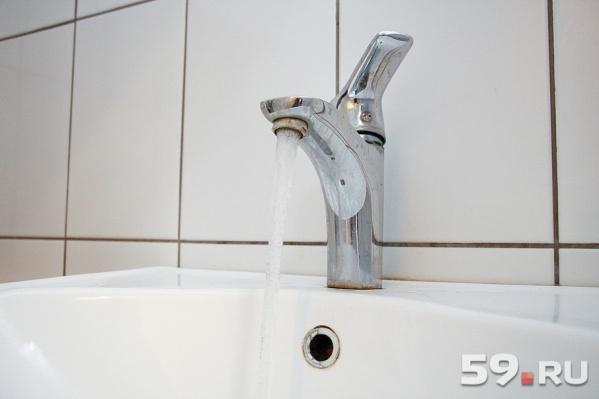 В Перми сегодня отключат воду в домах нескольких районов города