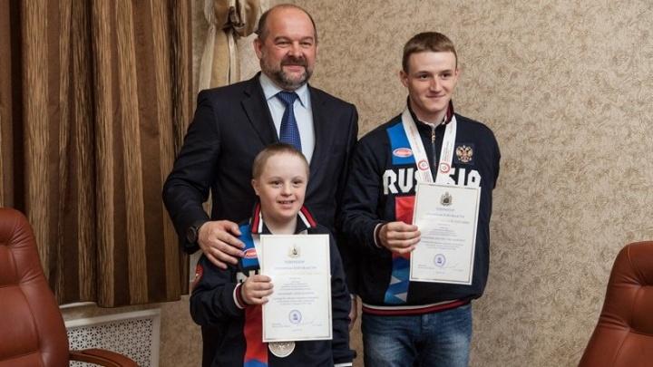 Игорь Орлов поздравил победителей Всемирных зимних игр Специальной Олимпиады