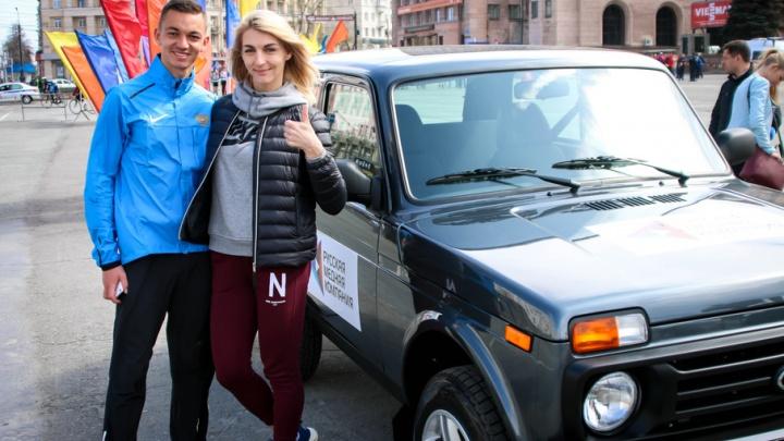 Будущий олимпиец «добежал» до автомобиля на эстафете в Челябинске