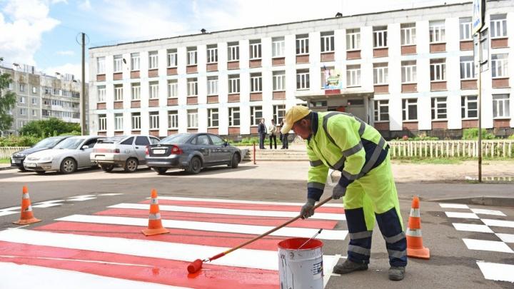 Красно-белая: в Ярославле выбрали новый стиль дорожной разметки