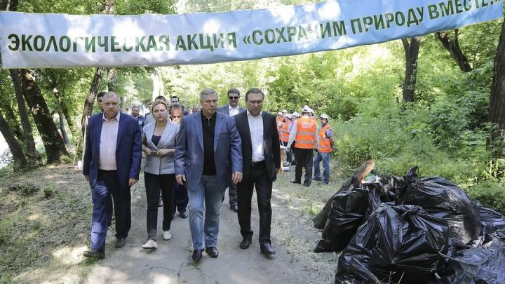 Донской губернатор взялся за очистку реки Темерник от мусора и сточных вод