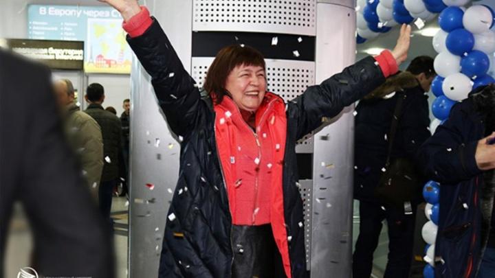 Губернатор подарил путевку в санаторий: пермячка стала двухмиллионным пассажиром аэропорта Минвод