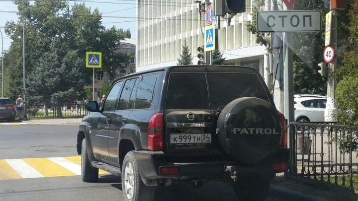Автомобилисты Волгограда начали массово получать штрафы за пересечение стоп-линий