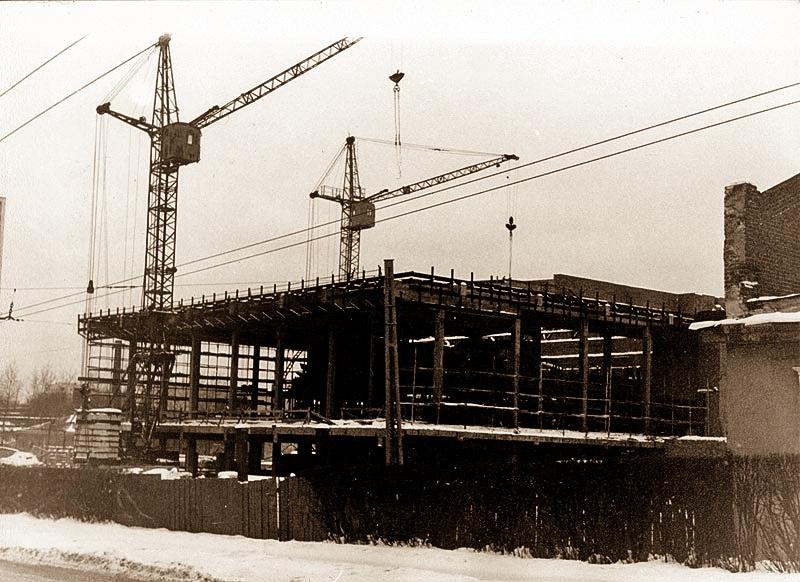 Строительство нового здания.