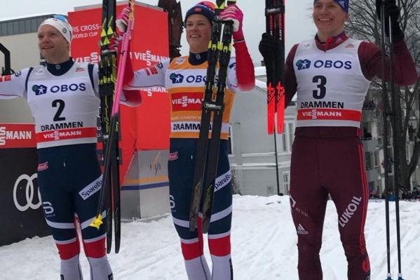 Конкуренцию российскому спортсмену составили лыжники из Норвегии