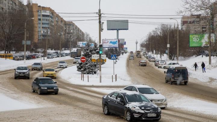 Дороги Волгограда покрылись слоем снежной каши