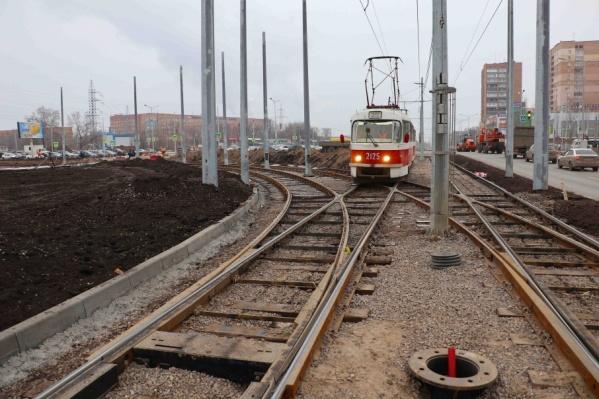 Так выглядит новая трамвайная развязка