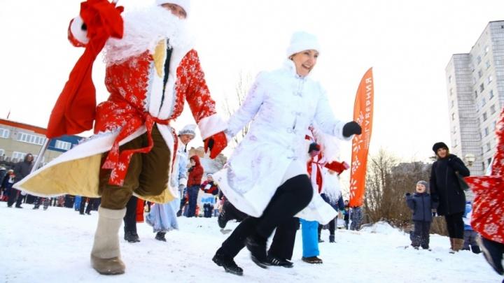 Разминка-2018: в Перми прошёл забег Дедов Морозов и Снегурочек
