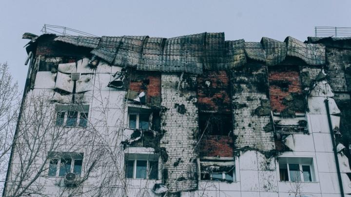 Несущие стены сгоревшего на Олимпийской дома обследуют с помощью московского спецоборудования