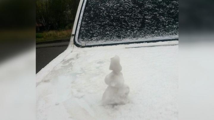 «Нас ждет мощное арктическое вторжение»: в Перми выпал первый снег