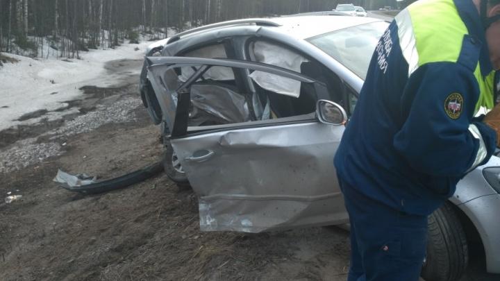 На дороге Коряжма — Котлас выезд на грунтовку закончился ДТП, в котором пострадал ребенок
