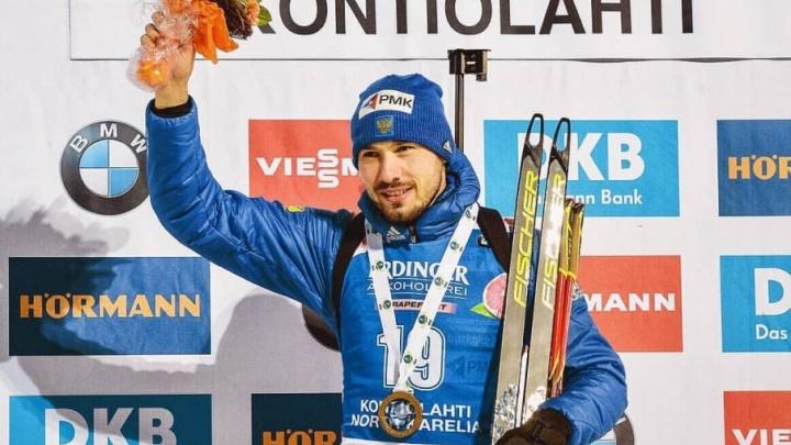 «С праздником, дорогая! Я старался»: победу на этапе Кубка мира по биатлону Антон Шипулин посвятил  жене