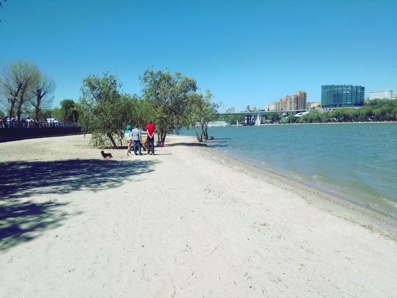 Пляж на Левбердоне после реконструкции