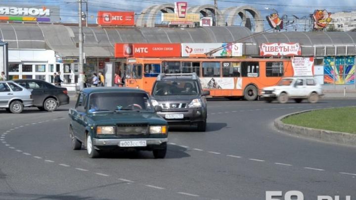 На следующей неделе в Перми изменятся схемы движения на двух круговых перекрестках