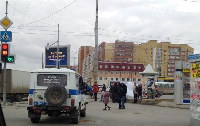 В Тюмени задержали участников агитационной акции штаба Навального