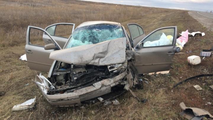 Машины смяло, как консервные банки: молодой водитель спровоцировал лобовое ДТП под Самарой