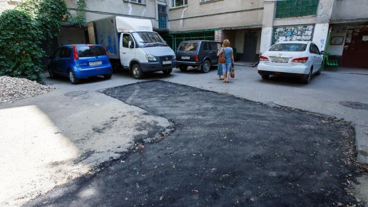 «Концессии теплоснабжения» сделали асфальтированную яму в центре Волгограда