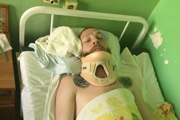 Андрей Зиновьев после поступления в больницу