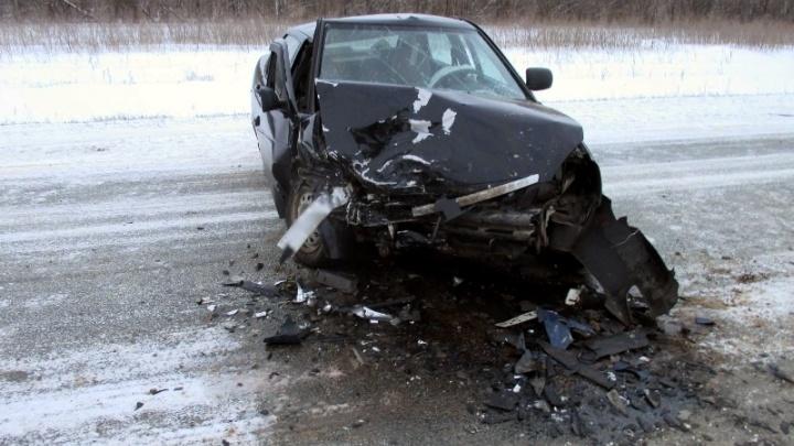 Выехал на встречку: на трассе М-5 пьяный водитель Chevrolet Lanos влетел в «Приору»