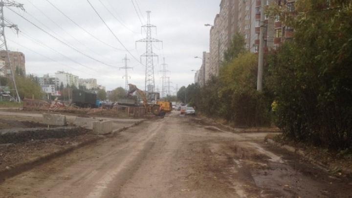 В Самаре началась подготовка к ремонту участка улицы Демократической