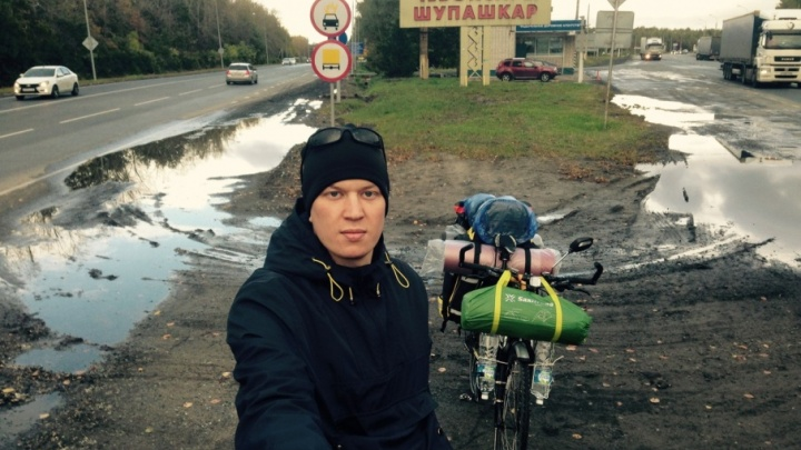 Мечтающий перезимовать в Грузии велосипедист доехал из Чебоксар до Волгограда