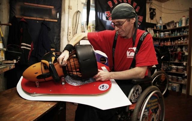 Ростовский инвалид-путешественник претендует на национальную премию за изобретение подводной коляски