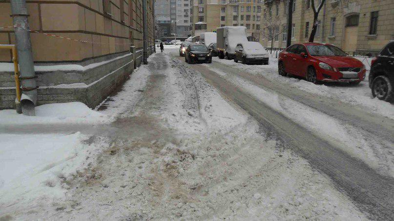 Улица Краснодонская от Большеохтинского проспекта до Среднеохтинского проспекта