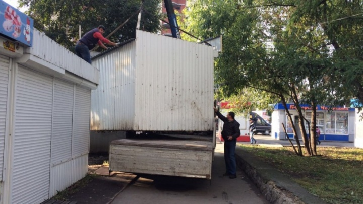 Убрали самый крупный «пятачок»: в Челябинске ликвидировали 22 незаконных киоска