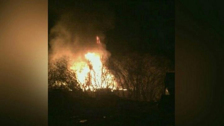 Ночью на Лесобазе случился пожар