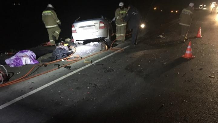 Смертельное ДТП: в Самарской области на трассе «Лада» влетела в КАМАЗ