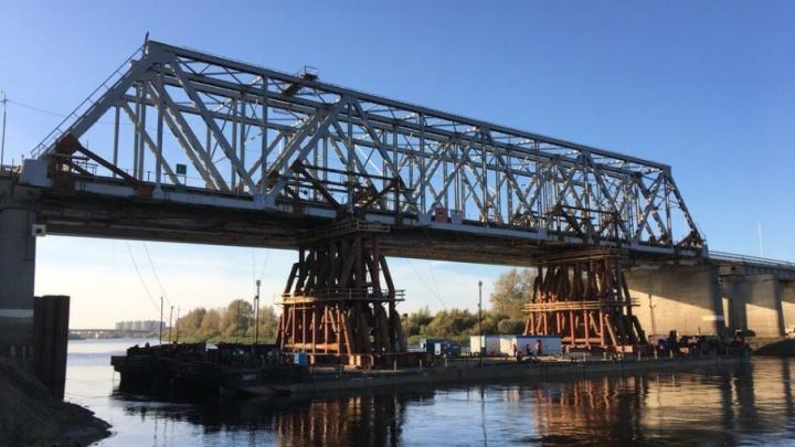 Пролёт совмещенного моста на Мельникайте остался на прежнем месте