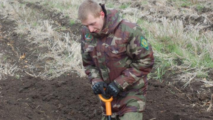 Останки красноармейца нашли в Ростовской области