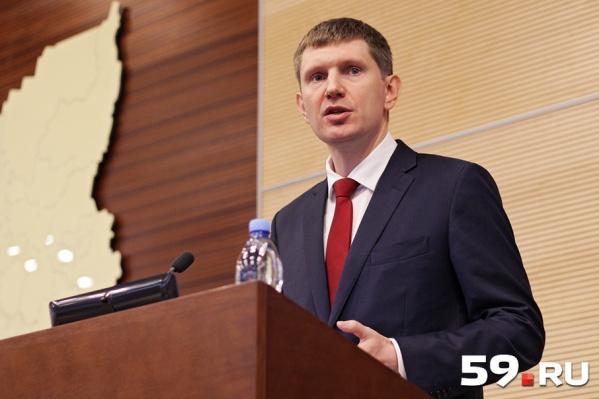 Максим Решетников рассказал о приоритетах своей работы на посту губернатора