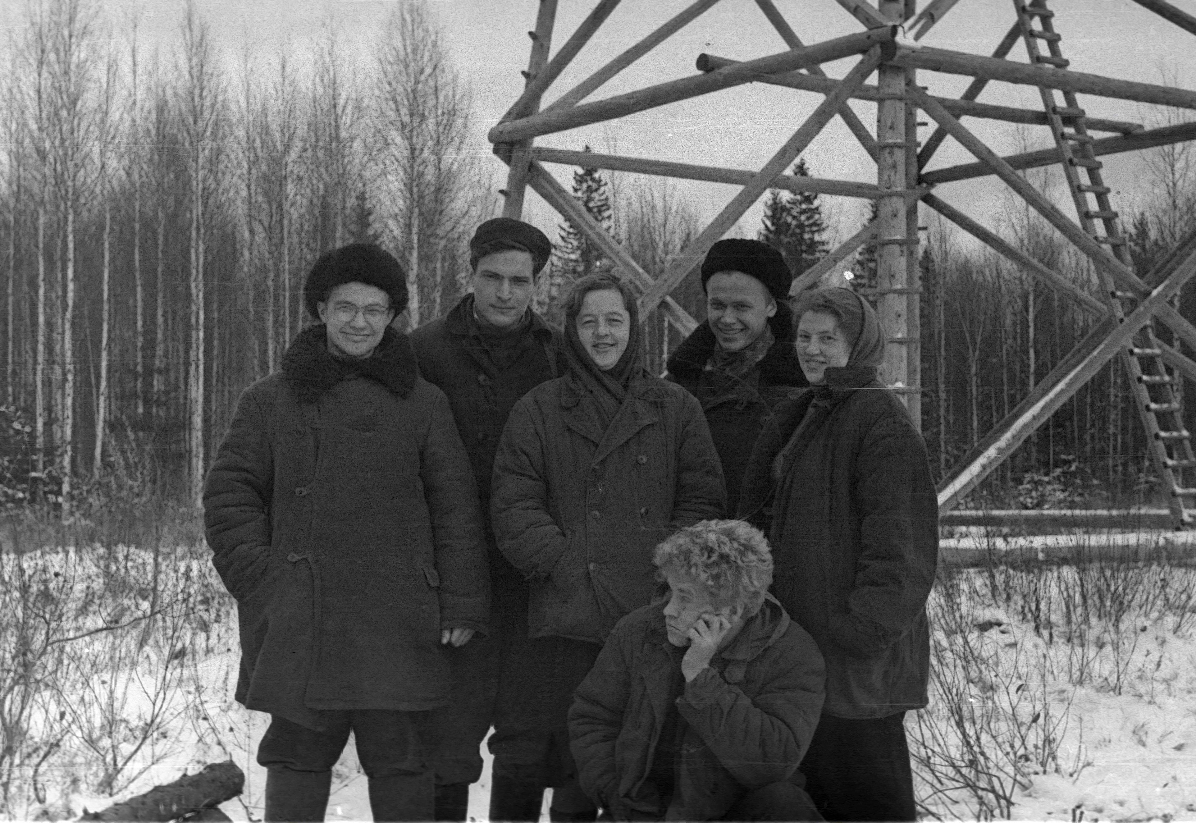 1962 г. Кировская область.  Астрономо-геодезическая экспедиция / Из семейного архива