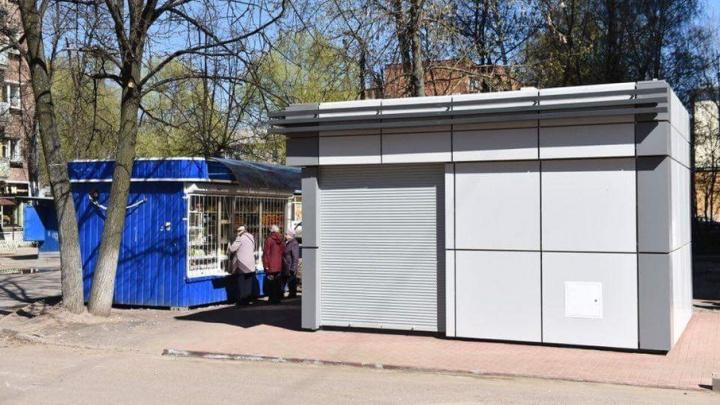 На рынке в Ярославле появился первый ларек нового образца: фото