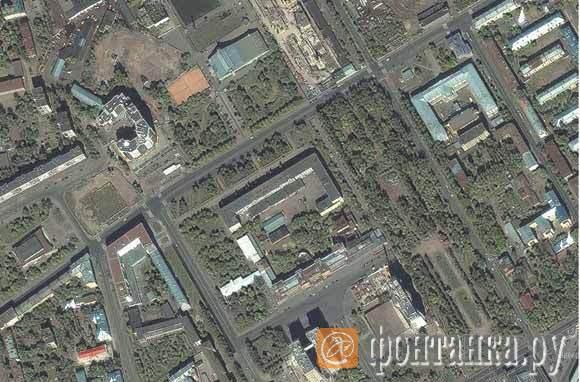 ДК им. Кирова, изображение со спутника. Goodle.maps