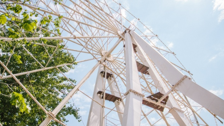 Установку колеса обозрения в парке Гагарина затормозила жалоба бизнесменов