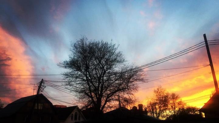 Закат мечты: челябинцев восхитили роскошные виды вечернего неба
