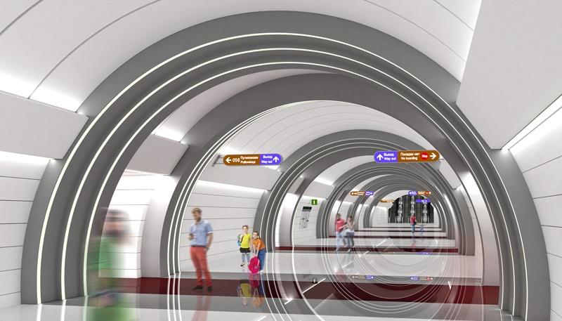 станция «Юго-Западная» / проект «Метрогипротранса»/ автор фото КРТИ