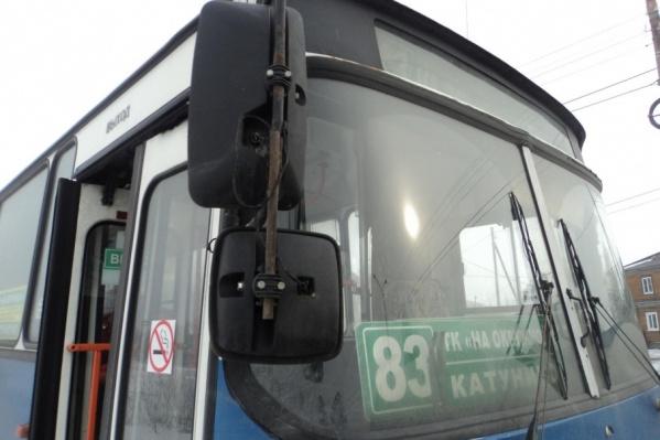 Водитель автобуса попытался уехать с места происшествия