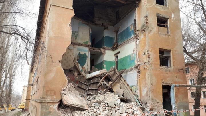 Обрушение общежития в  Волгограде попало на видео