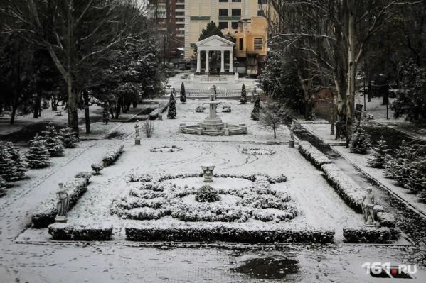 В четверг в Ростове снова выпадет снег, но быстро растает