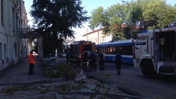 В Самаре снова горело Реальное училище: на втором этаже вспыхнул мусор