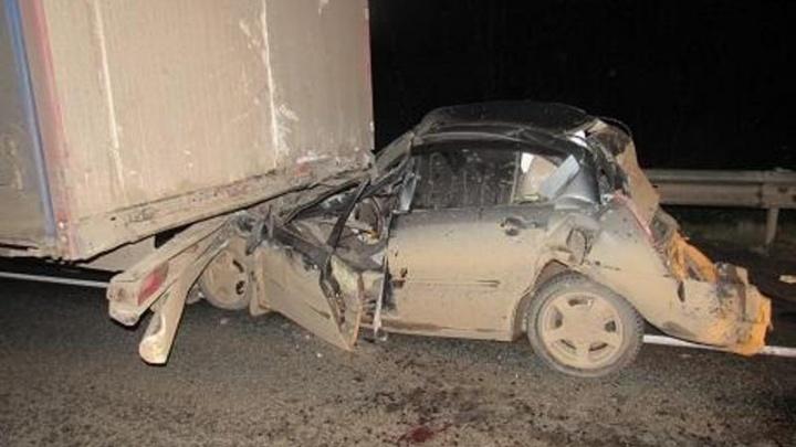 В массовой аварии на трассе под Пермью пострадал водитель иномарки