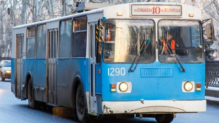 Троллейбус №10 в Волгограде начал ездить до Больничного комплекса